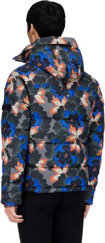 eb4aec069db1 Kenzo   Indonesian Flower  Hooded Puffer Jacket - Anthracite ...
