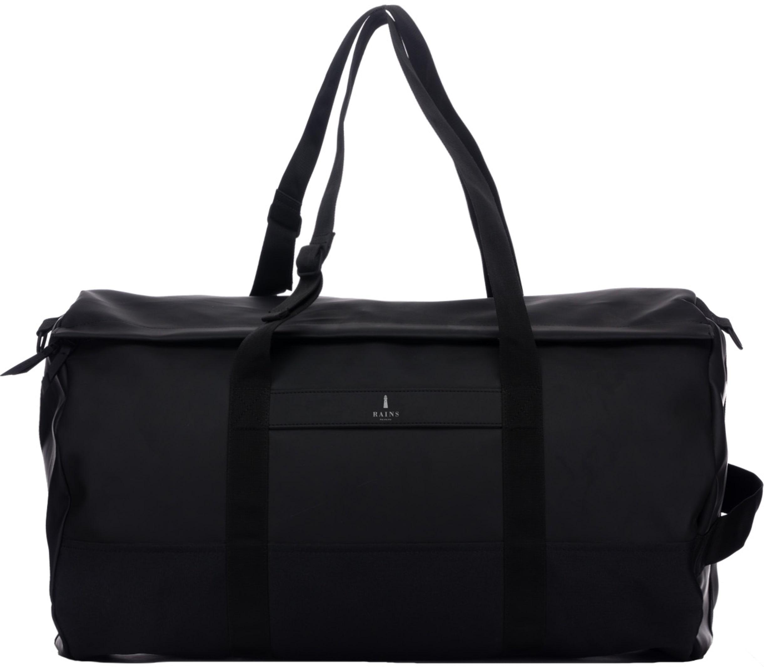 f2d49c6ed08 Rains: Travel Duffel Bag - Black | influenceu