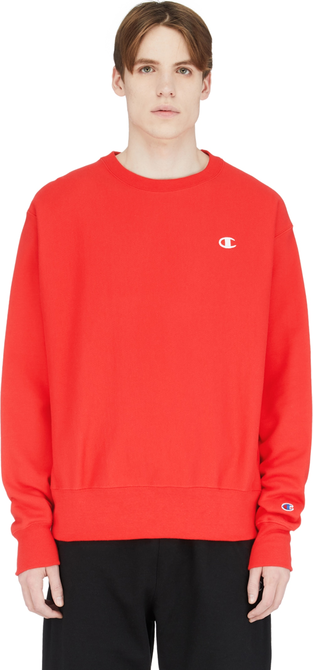 214b444f Champion: Reverse Weave Crew Neck Pullover - Team Red Scarlet ...