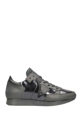 Philippe Model Tropez Sculpte Metal Noir Sneakers