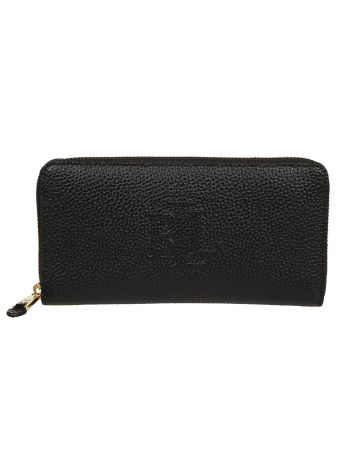 Ralph Lauren Stitched Logo Zip Around Wallet