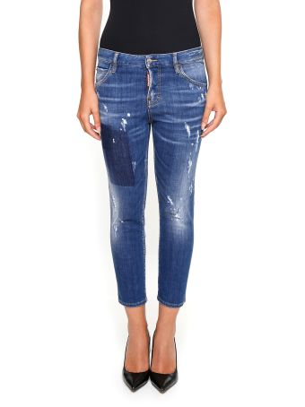 Cropped Jeans With Five Pockets