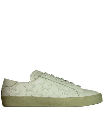 White Stars Court Classic Low Sneakers