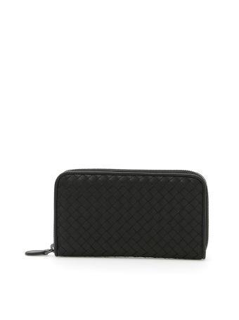 Zip Around Intrecciato Wallet