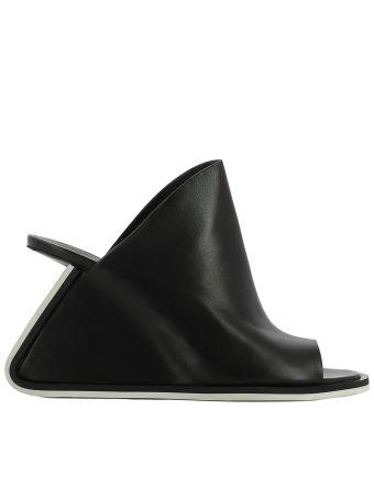 Black Leather Sabot