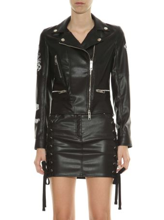 Versus Biker Jacket With Prints And Embroideries
