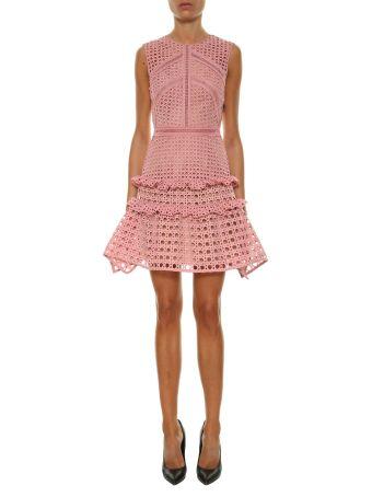 Self-portrait Crosshatch Frill Mini Dress