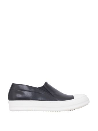 Rick Owens Leather Boat Sneakers