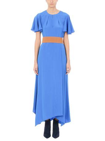 Diane Von Furstenberg Blue Light Silk Dress