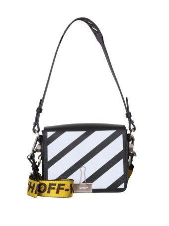 Off-White Diagonal Flap Leather Bag
