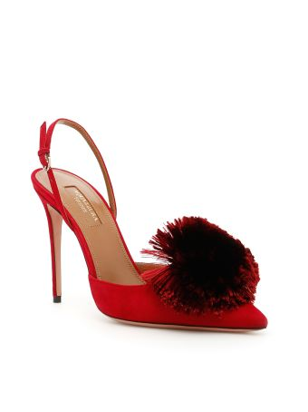 Powder Puff Slingbacks