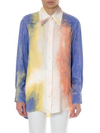 Celine Tie Dye Multicoloured Twill Shirt