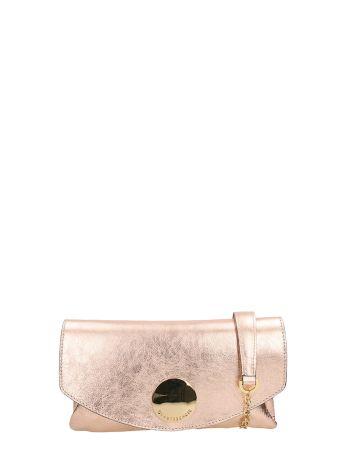 L'Autre Chose Pink Metal Leather Shoulder Bag