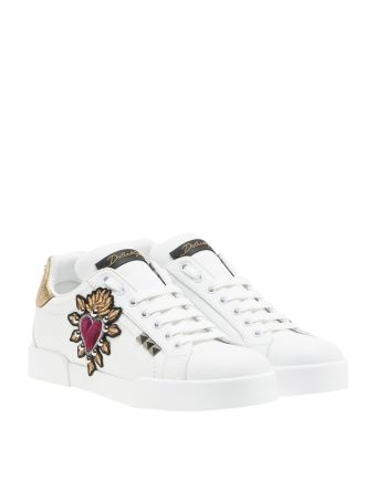 Dolce & Gabbana Embroidered Heart Sneakers