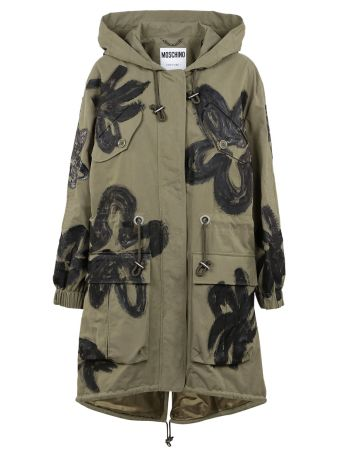 Moschino Floral Painted Parka