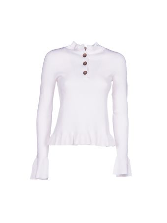 See By Chloé Ruffle Knit Sweater