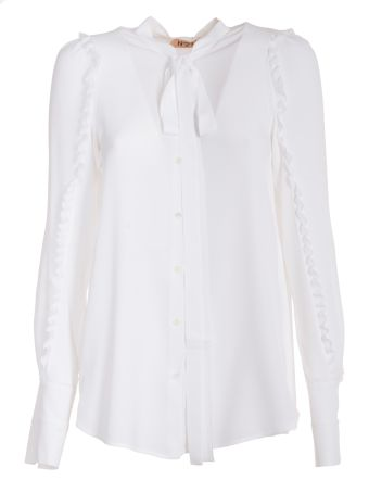 N 21 Ruffled Trim Shirt