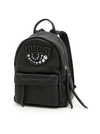 Flirting Eye Leather Backpack