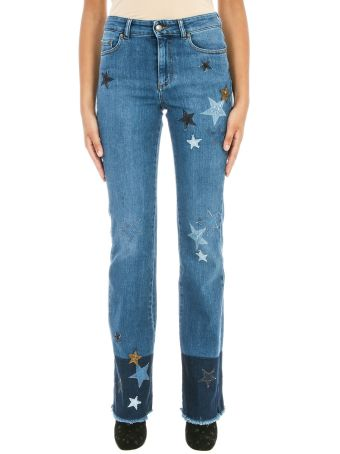 RED Valentino Star Patch Blue Denim
