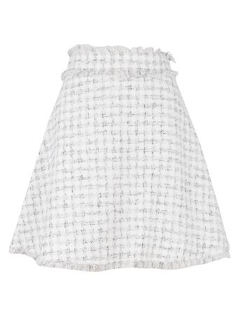 MSGM Fringed Detail Skirt