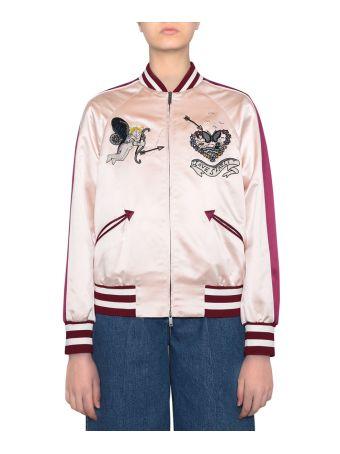 Valentino Love Blades Silk Souvenir Jacket