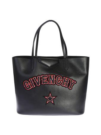 Black Antigona Shopping Bag With Logo