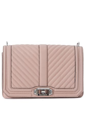 Rebecca Minkoff Crossbody Bag In Pink Quilted Leather