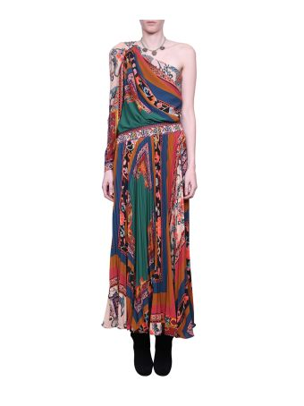 Etro One Shoulder Printed Dress