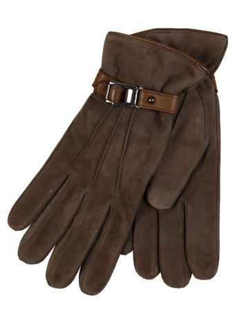 Restelli Suede Gloves With Leather Deer