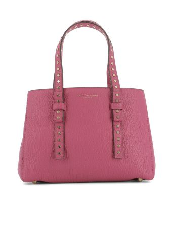 Fucsia Leather Handle Bag