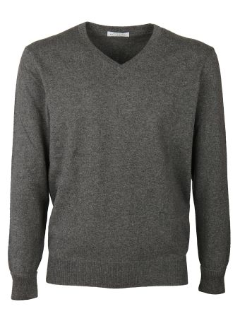 Ballantyne Curved V-Neck Sweater