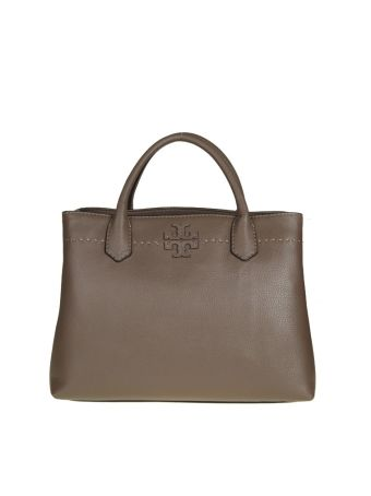 Tory Burch Mcgraw Triple-compart In Leather Color Maple