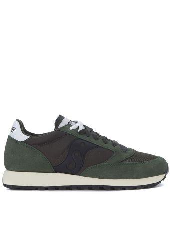 Saucony Jazz Dark Green Suede And Fabric Sneaker
