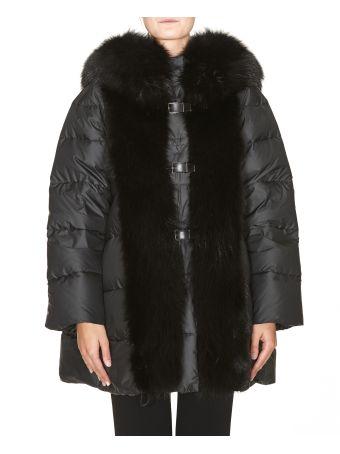 Ermanno Scervino Fur Details Down Jacket