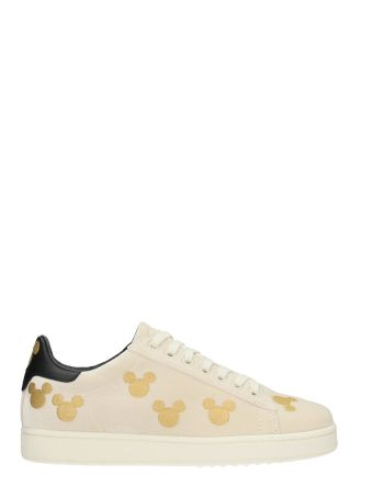 M.O.A. master of arts Mickey Beige Velvet Sneakers