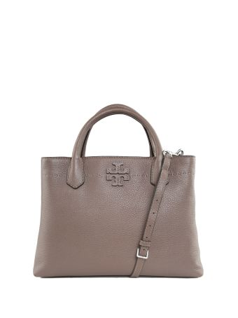 Tory Burch Mcgraw Pebbled-leather Shoulder Bag