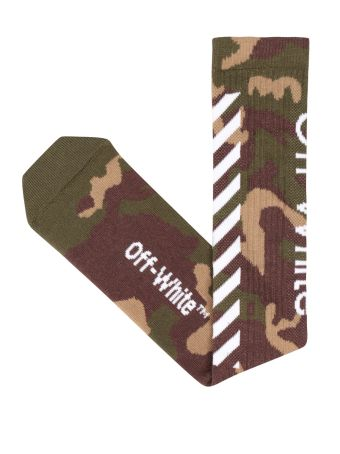 Off-White Diagonals Camouflage Cotton Socks