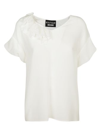 Boutique Moschino Silk Blouse With Rouches