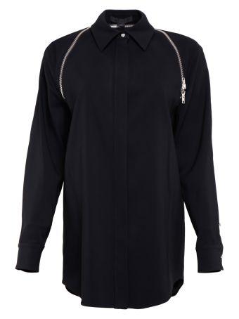 Crepe Shirt With Zip