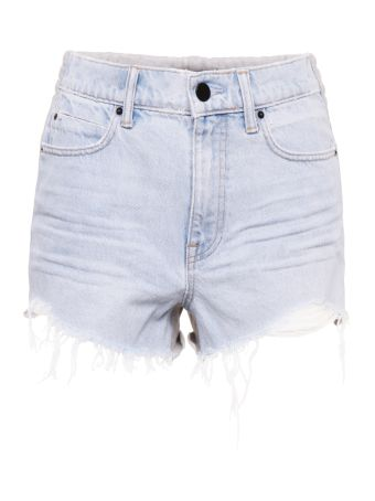 Denim And Jersey Shorts