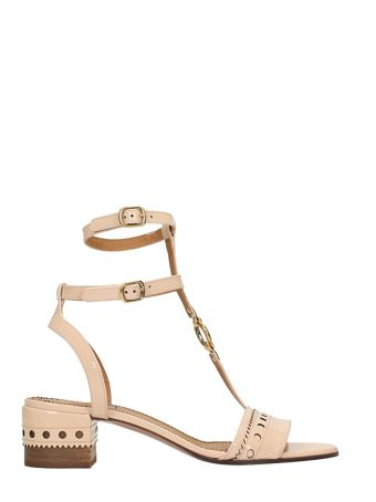 Chloé Perry Patent Leather Sandals