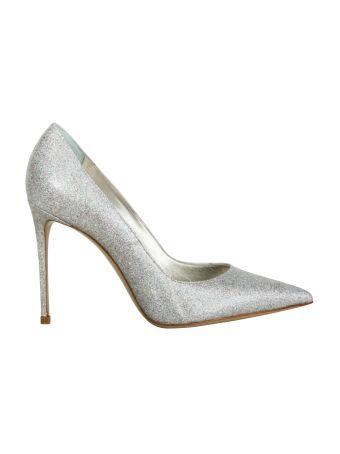 Le Silla Silver Glitter Volcano Stilettos