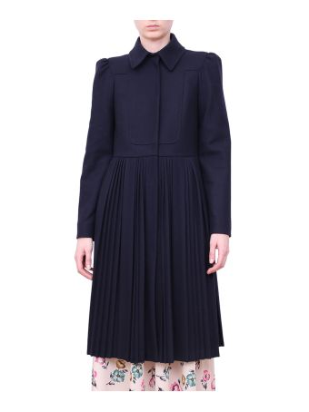 RED Valentino Weel Blend Pleated Coat