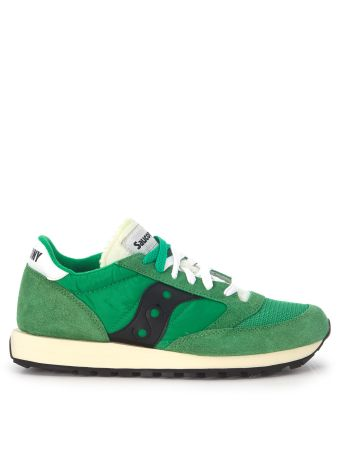 Sneaker Saucony Jazz Vintage In Green Suede And Nylon