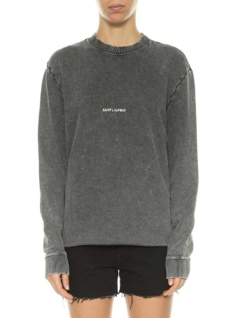 Saint Laurent Logo Printed Sweatshirt