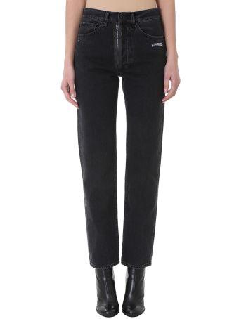Off-White Straight Leg  Black  Jeans