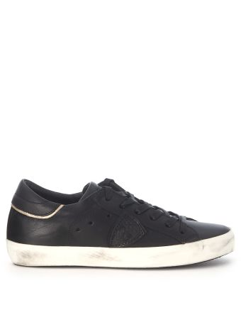 Philippe Model Paris Black Leather Sneaker