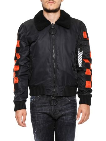 Checker Bomber Jacket