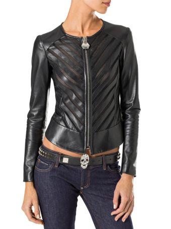 Philipp Plein Normal Leather Jacket