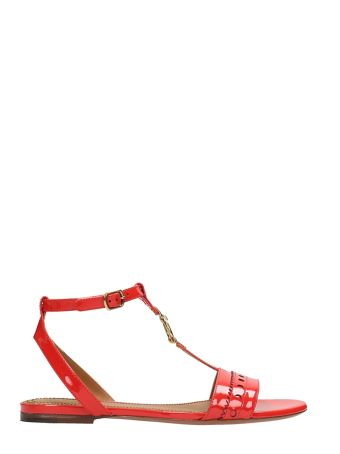 Chloé Red Patent Leather Flat Sandals